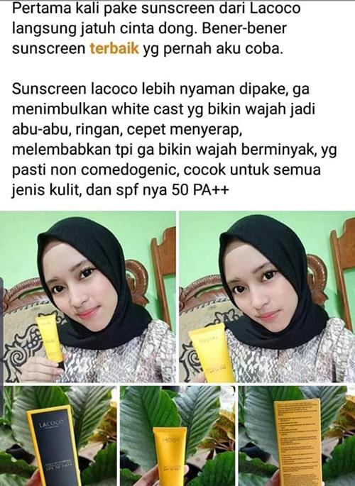testimoni-lacoco-sunscreen-daily-uv-counter-spf-50